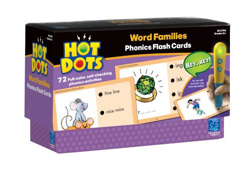 Educational Insights Hot Dots Phonics Word Families