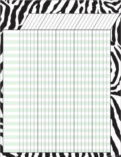 Teacher Created Resources Zebra Incentive Chart (7782)