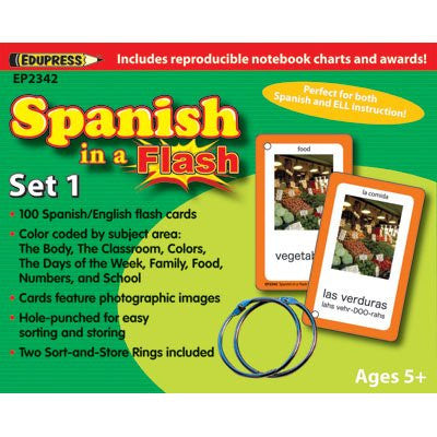 Spanish in a Set 1 Flash Cards