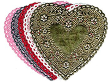 Hygloss Products Inc. Doilies 4 Pink Hearts