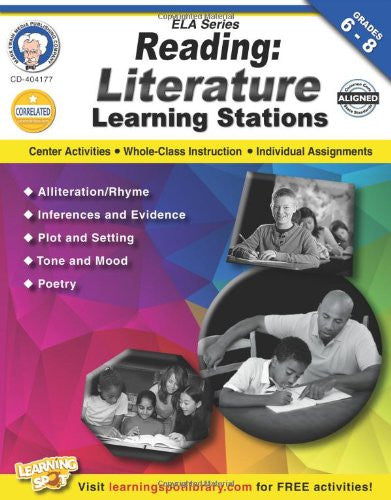 Reading, Grades 6 - 8: Literature Learning Stations (English Language Arts)