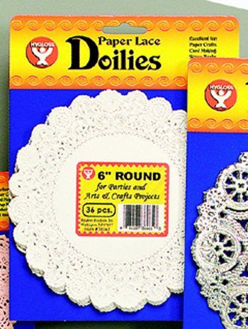 "Doilies, 8"" Round White, Pack of 100"