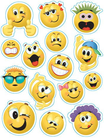 Eureka Emoticons Clings