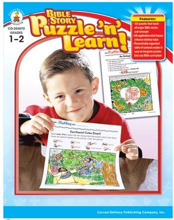 Bible Story Puzzle N Learn Gr 1-2