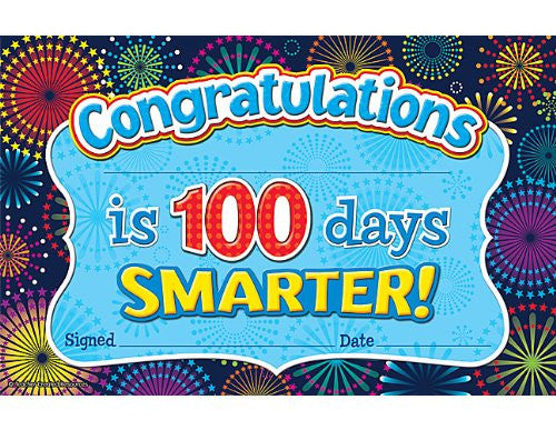 Teacher Created Resources Fireworks 100 Days Smarter Awards