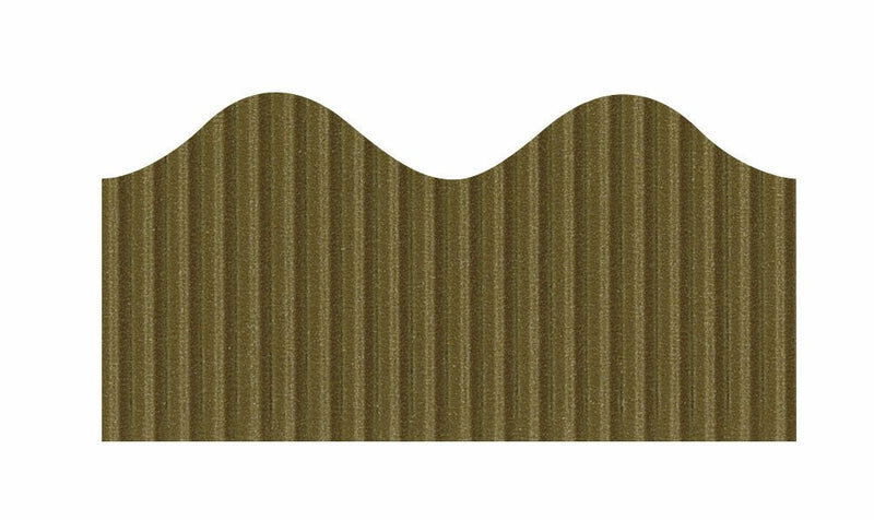 Pacon Bordette Scalloped Border - Brown