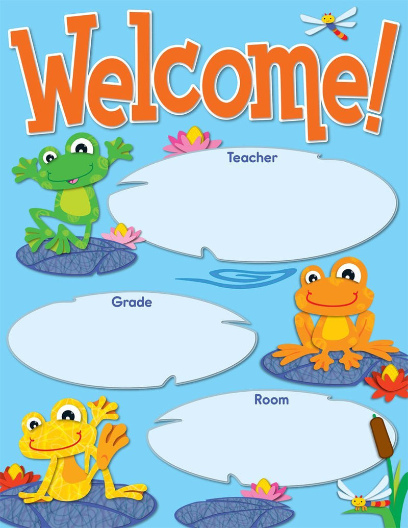 Carson Dellosa Funky Frogs Welcome Chart (114192)