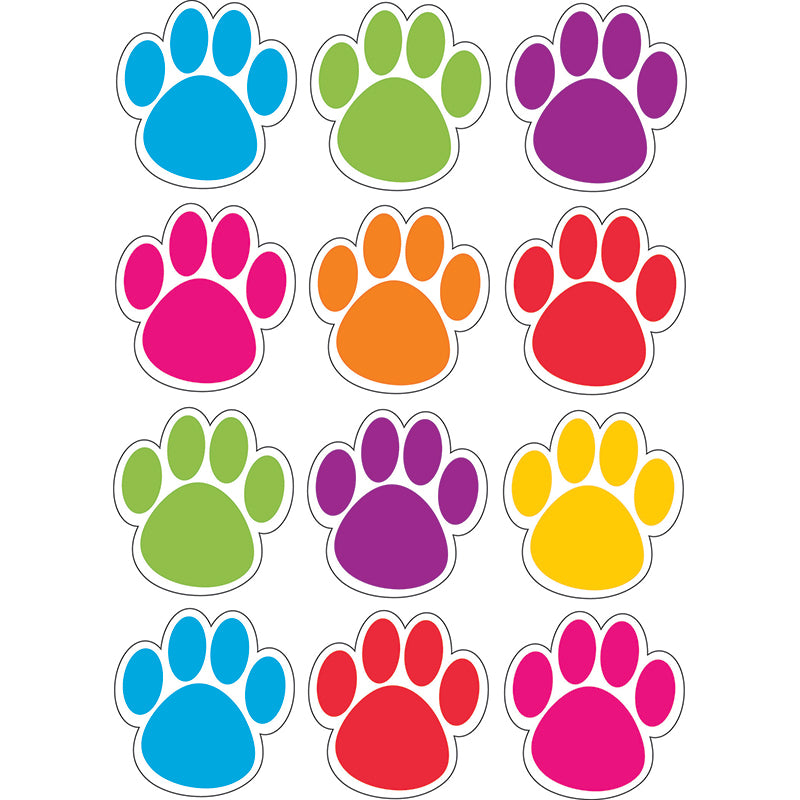 Ashley Productions Colorful Paws Die-Cut Magnets