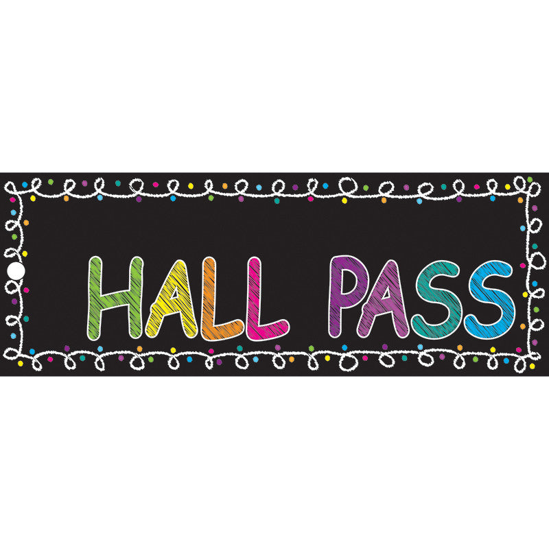Laminated Chalk Hall Passes