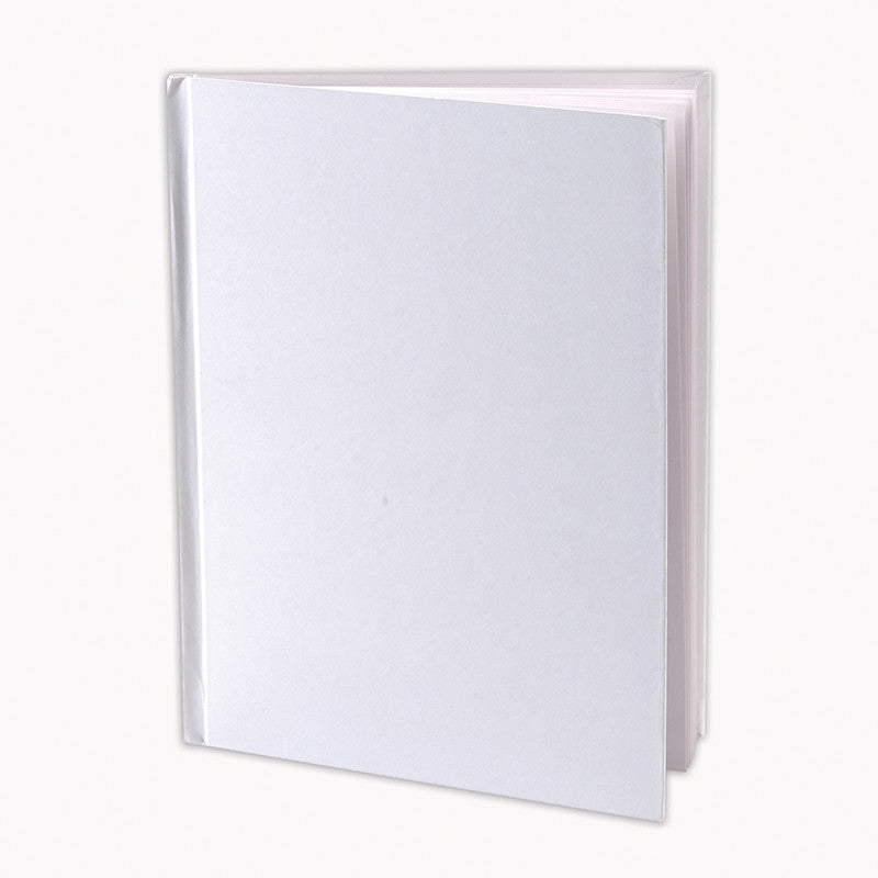 Plain White Book Cover : White hardcover blank book inches the