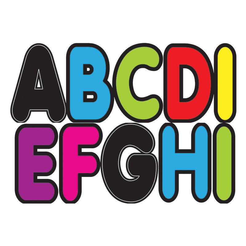 Ashley Productions Assorted Colors 2.75 Inch Magnetic Letters