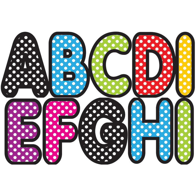 Ashley Productions Assorted Polka Dot Color 2.75 Inch Magnetic Letters