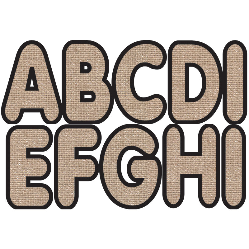 Ashley Productions Designer Burlap 2.75 Inch Magnetic Letters