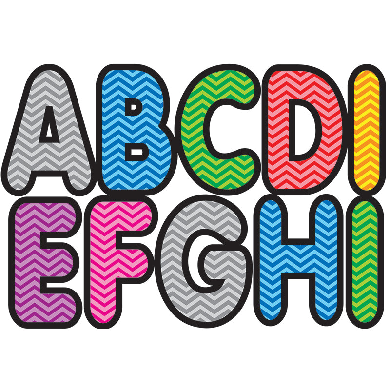 Ashley Productions Chevron Assorted Color 2.75 Inch Magnetic Letters
