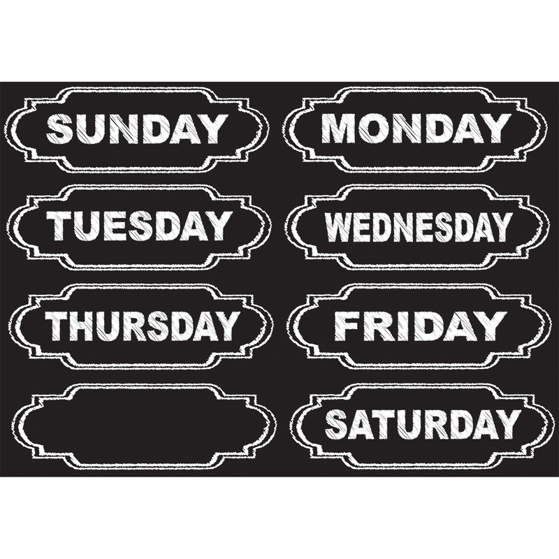 Ashley Productions Die-Cut Chalkboard Days Of The Week Magnets