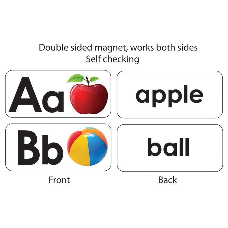 Ashley Productions Abc Picture Words Double Sided Magnetic Border
