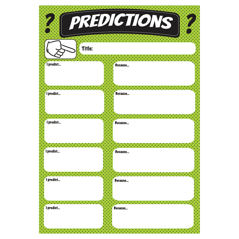 Ashley Productions Large Magnetic Predictions Chart