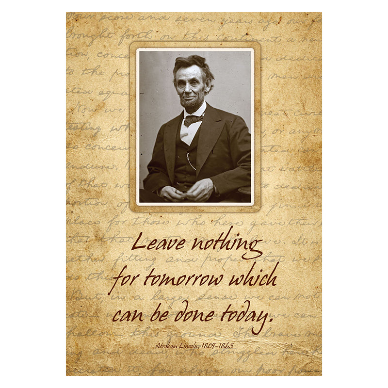Barker Creek & Lasting Lessons Abraham Lincoln Poster