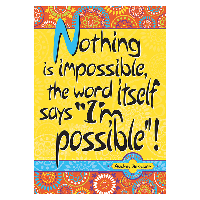 Barker Creek & Lasting Lessons Nothing Is Impossible Poster