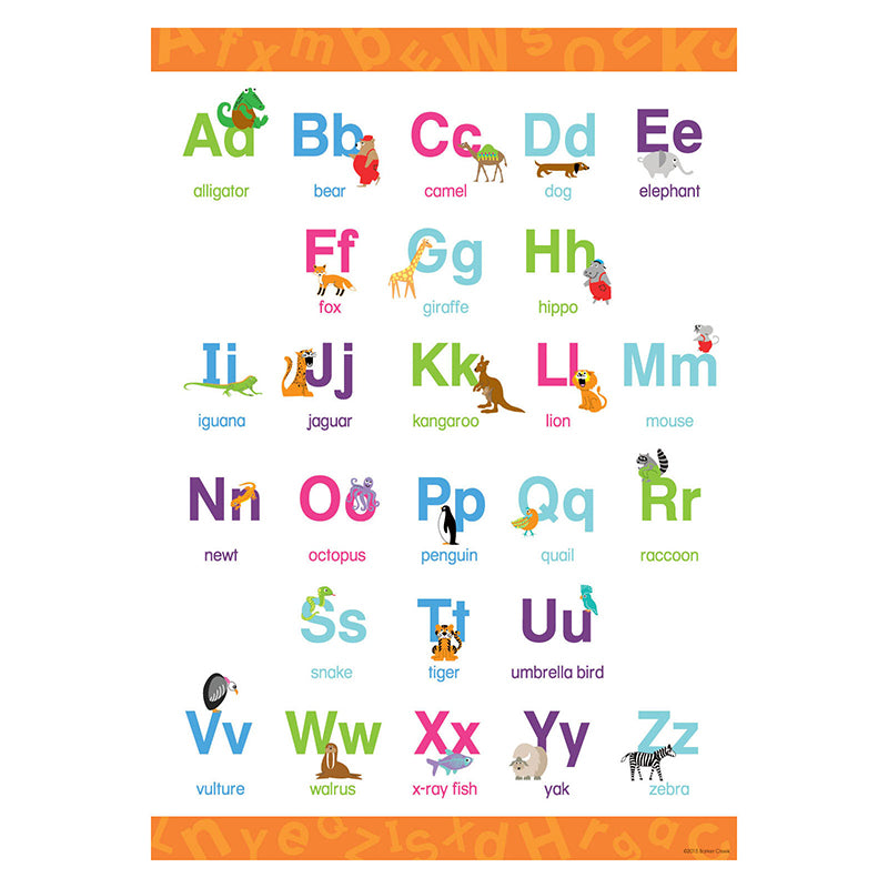 Barker Creek & Lasting Lessons Early Learning Upper & Lower Case Poster
