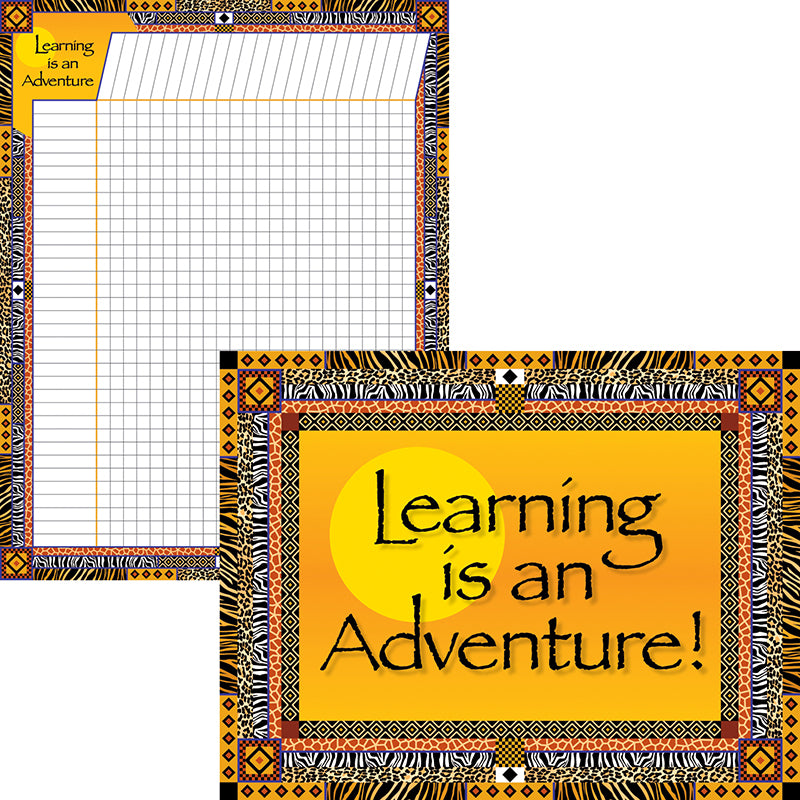 Barker Creek & Lasting Lessons Learning Is An Adventure Chart Set