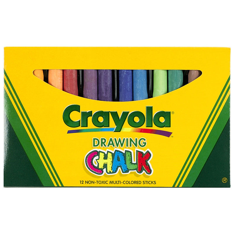 Crayola Colored Drawing Chalk Assorted - 12 Sticks