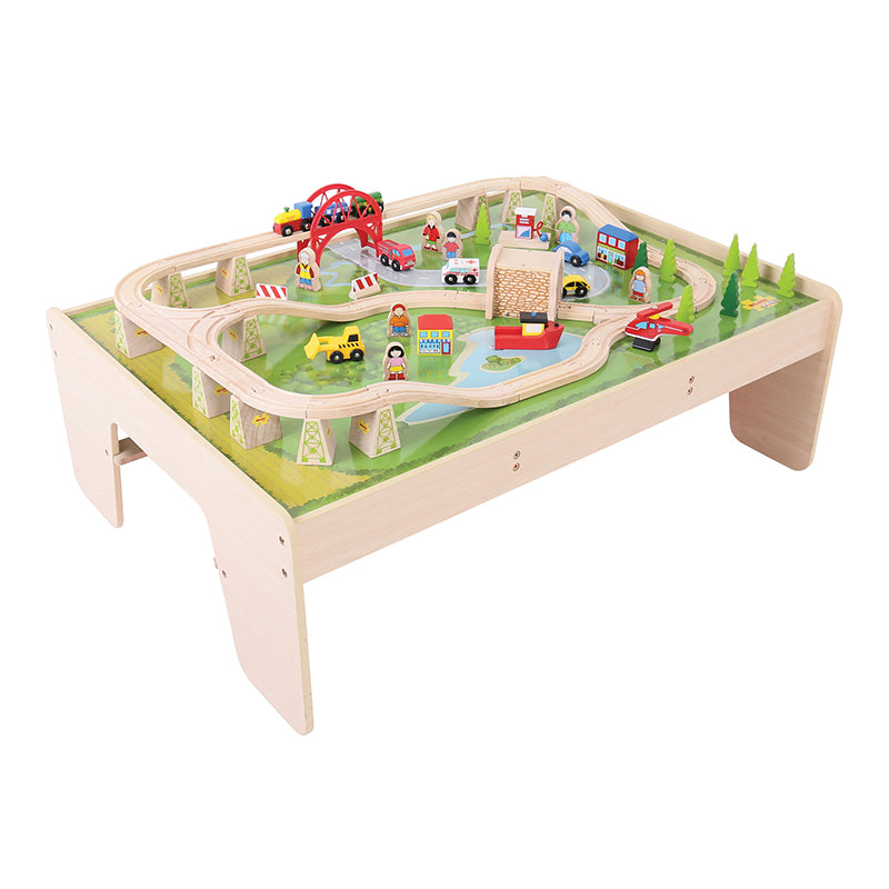 Bigjigs Toys Table and Train Set