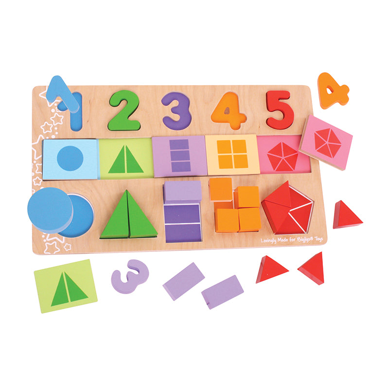 Bigjigs Toys My First Fractions Wooden Puzzle