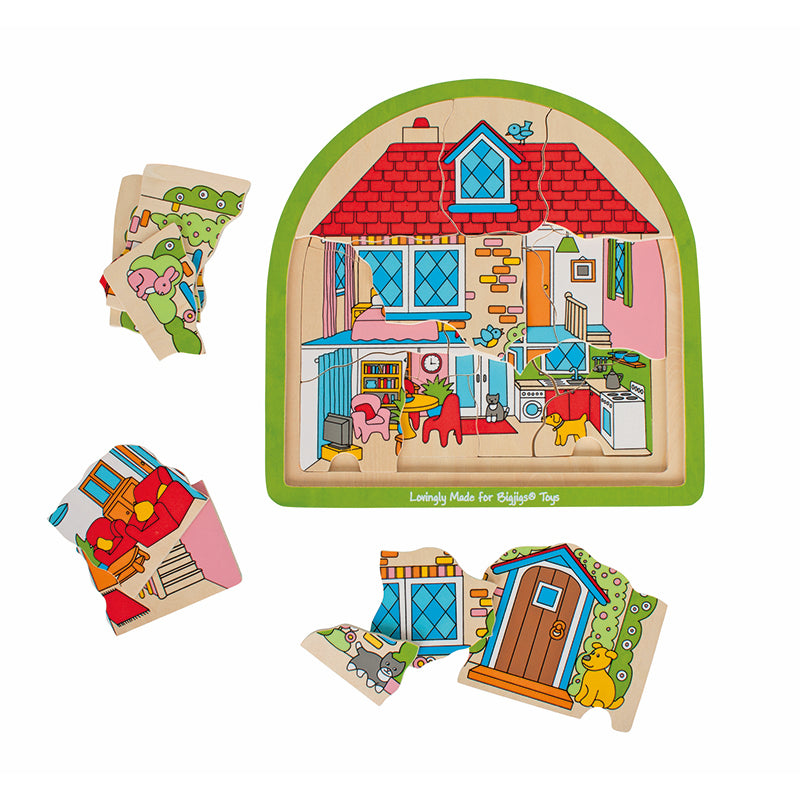 Bigjigs Toys Multi-Layer House Puzzle