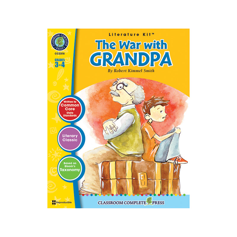 Classroom Complete Press The War With Grandpa By Robert Kimmel Literature Kit