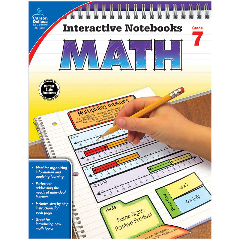 Carson Dellosa Interactive Math Notebooks