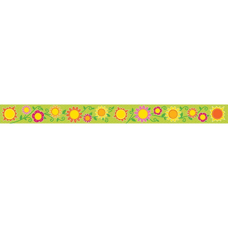 Carson Dellosa 36 Foot Sunshine & Flowers Straight Border