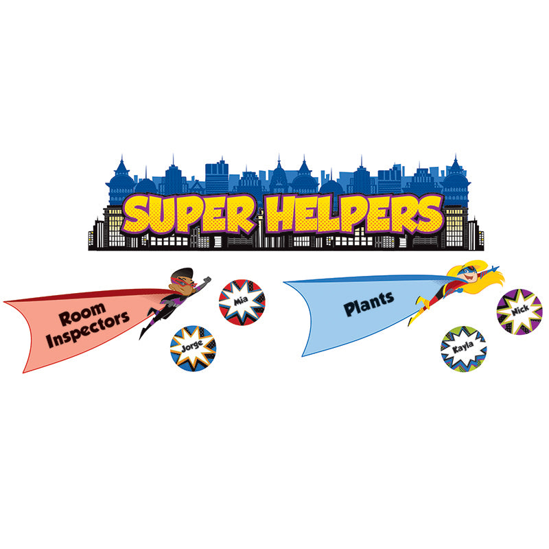 Carson Dellosa Super Power 41 Piece Super Helpers Mini Bulletin Board Set