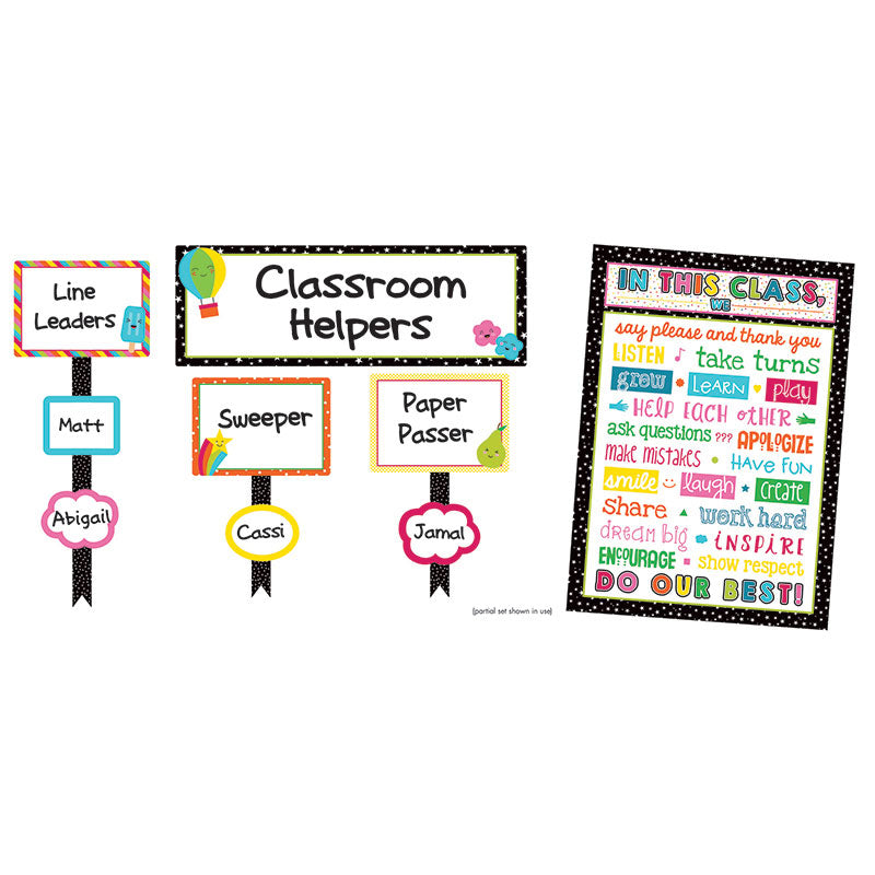 Carson Dellosa School Pop 54 Piece Classroom Management Bulletin Board Set