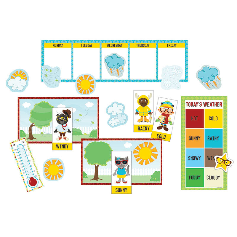 Carson Dellosa Hipster Weather 29 Piece Mini Bulletin Board Set