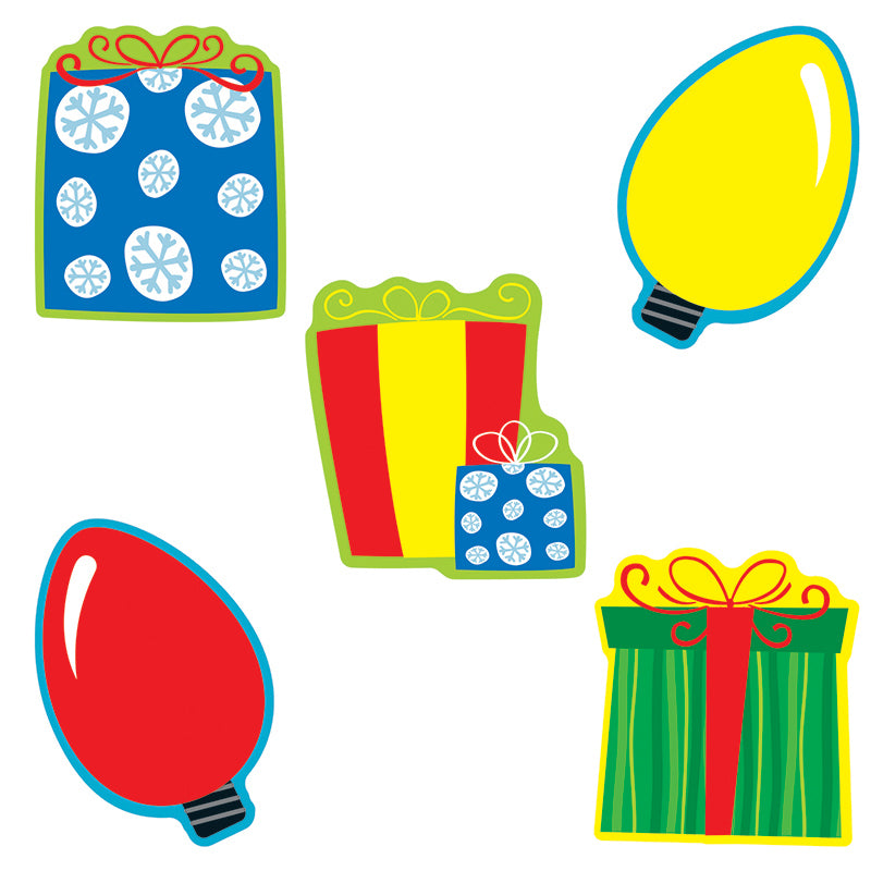 Carson Dellosa Gifts & Lights 36 Piece Cut Outs