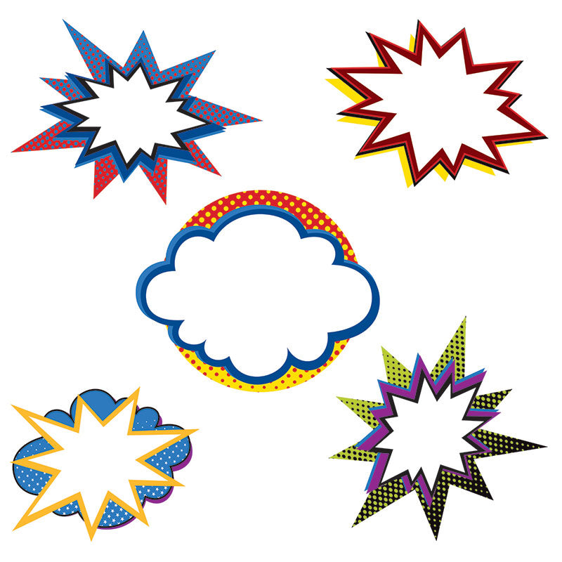 Carson Dellosa Super Power Bursts 36 Piece Cut Outs