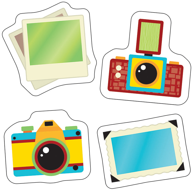 Carson Dellosa Hipster Cameras and Photos 18 Piece Cut Outs