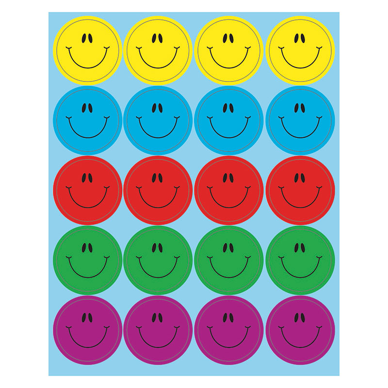 Carson Dellosa Dazzle 80 Pack Smiley Faces Stickers