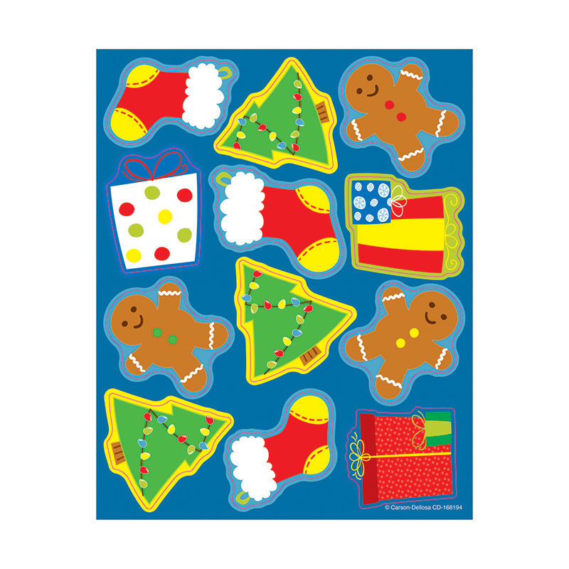 Carson Dellosa Holiday 72 Pack Shape Stickers