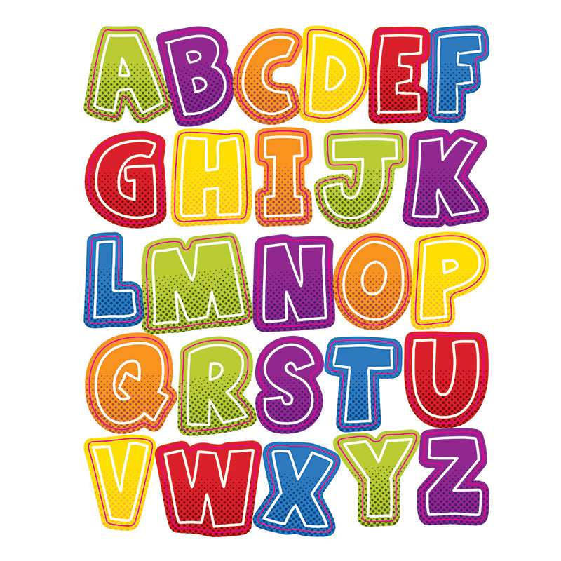 Carson Dellosa Super Power 156 Pack Alphabet Uppercase Letter Stickers