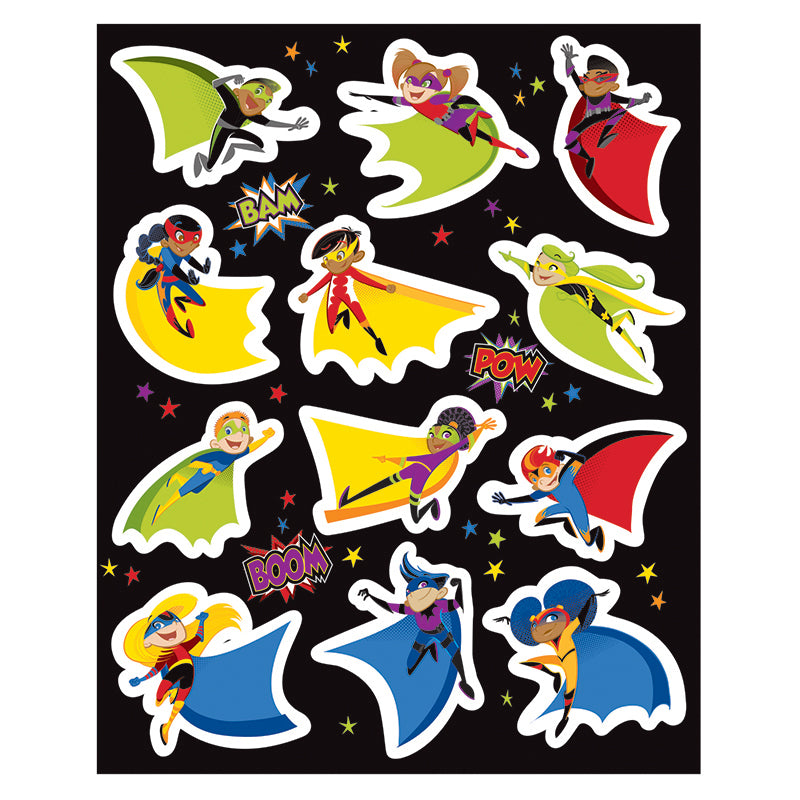 Carson Dellosa Super Power 72 Pack Shape Stickers