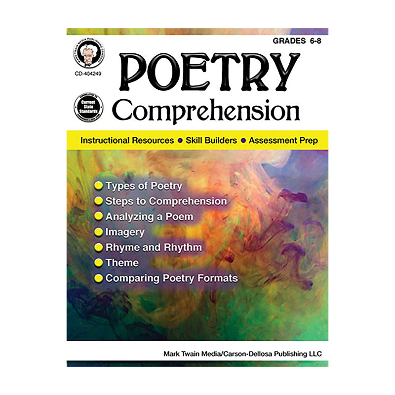 Carson Dellosa Poetry Comprehension Grades 6-8