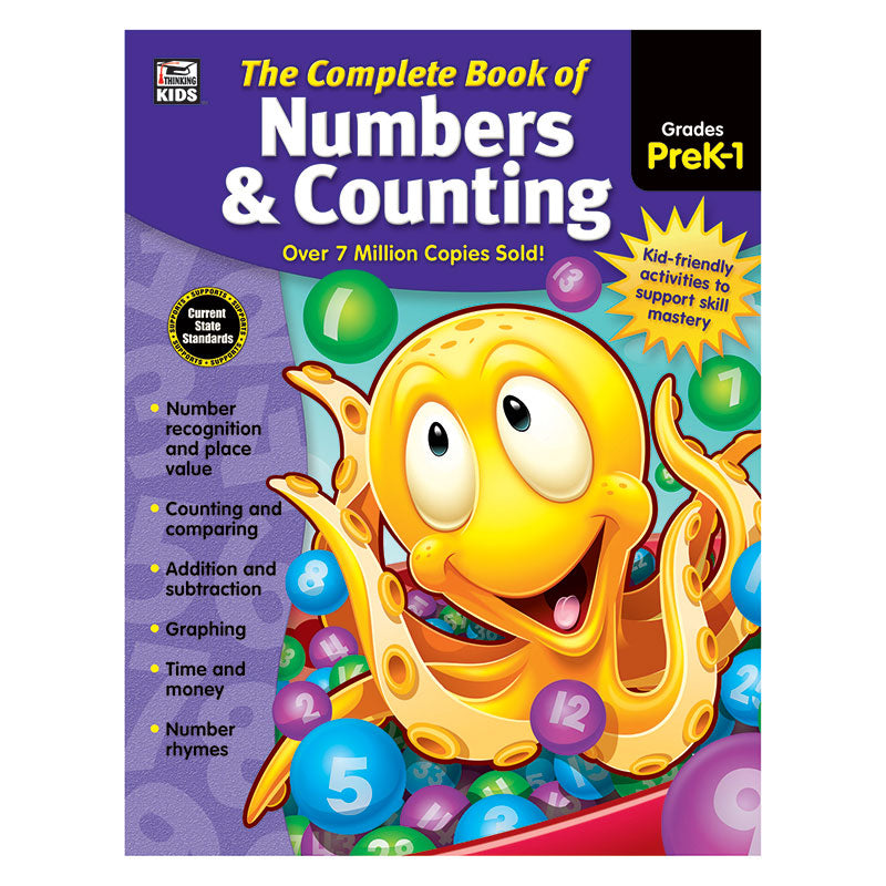 Carson Dellosa Complete Book Of Numbers & Counting Grades Pre K-1st