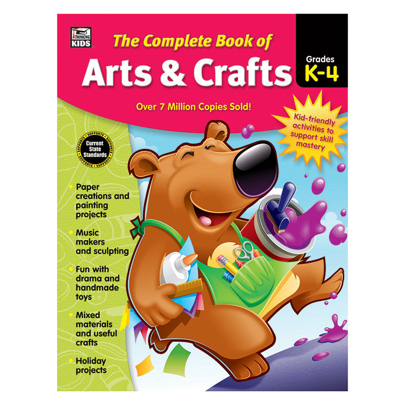 Carson Dellosa Complete Book Of Arts & Crafts Grades Kindergarten-4