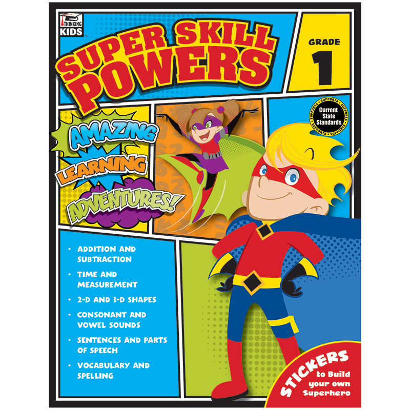 Carson Dellosa Super Skill Powers Grade 1 Curriculum Sets