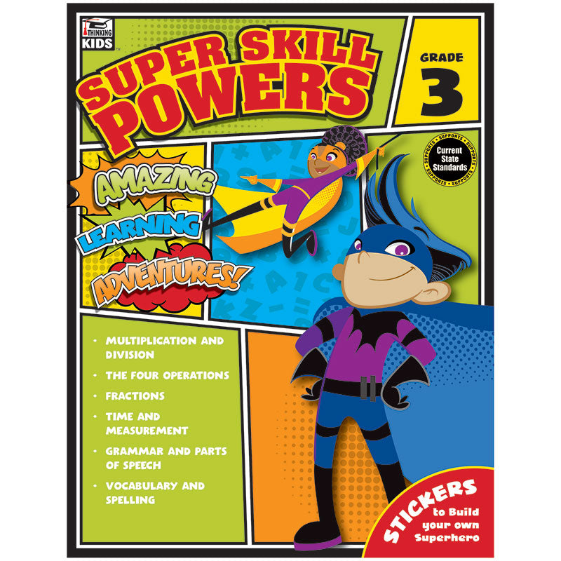 Carson Dellosa Super Skill Powers Grade 3 Curriculum Sets