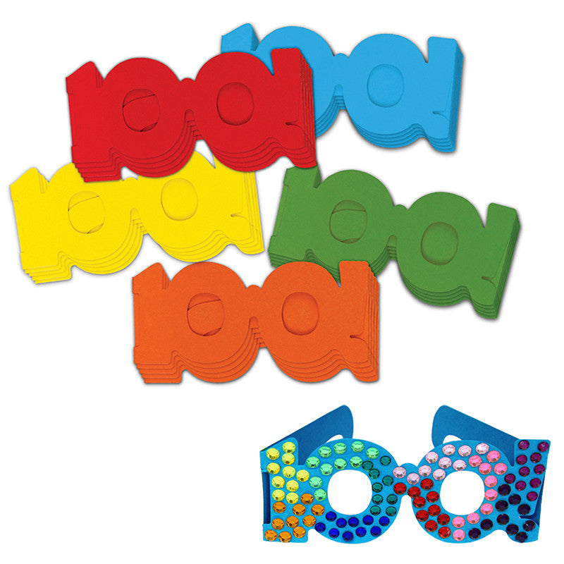 100 Days of School Paper Glasses