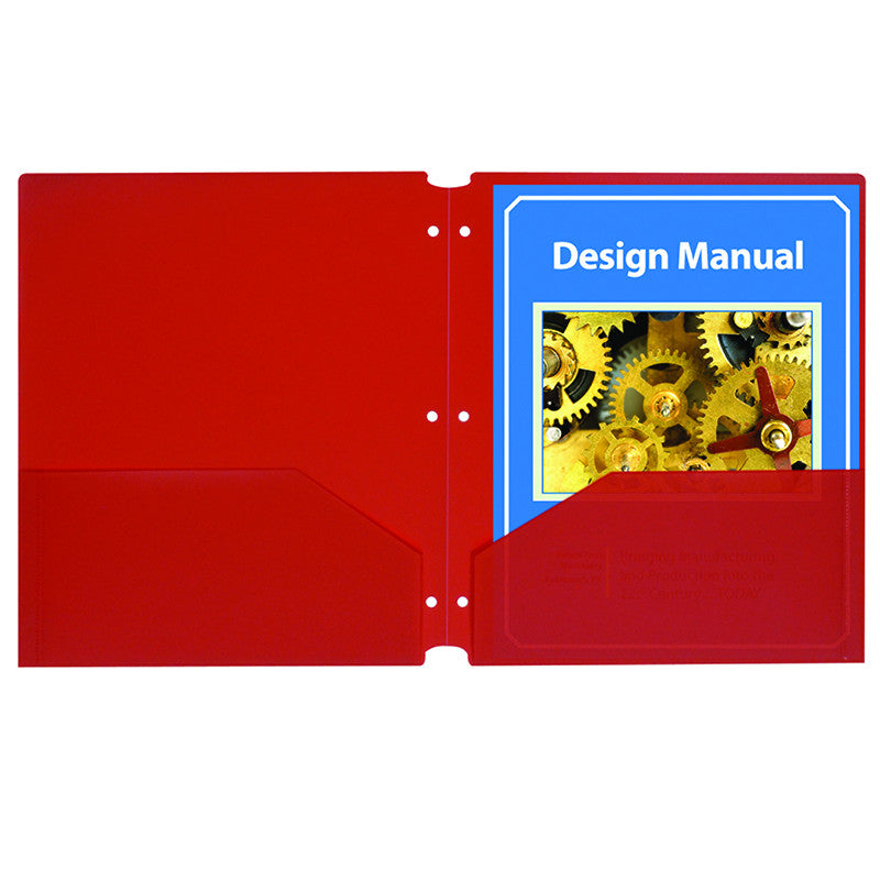 C-Line Products Inc Two Pocket 25 Piece Poly Folder