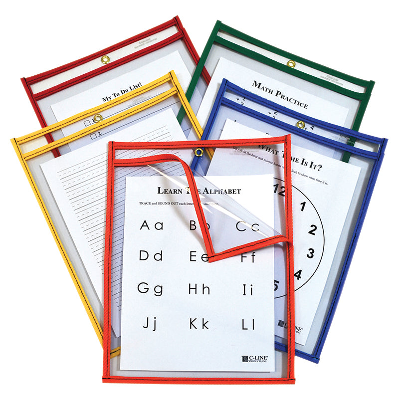 C-Line Products Inc Easy Load 25 Piece Dry Erase Pockets
